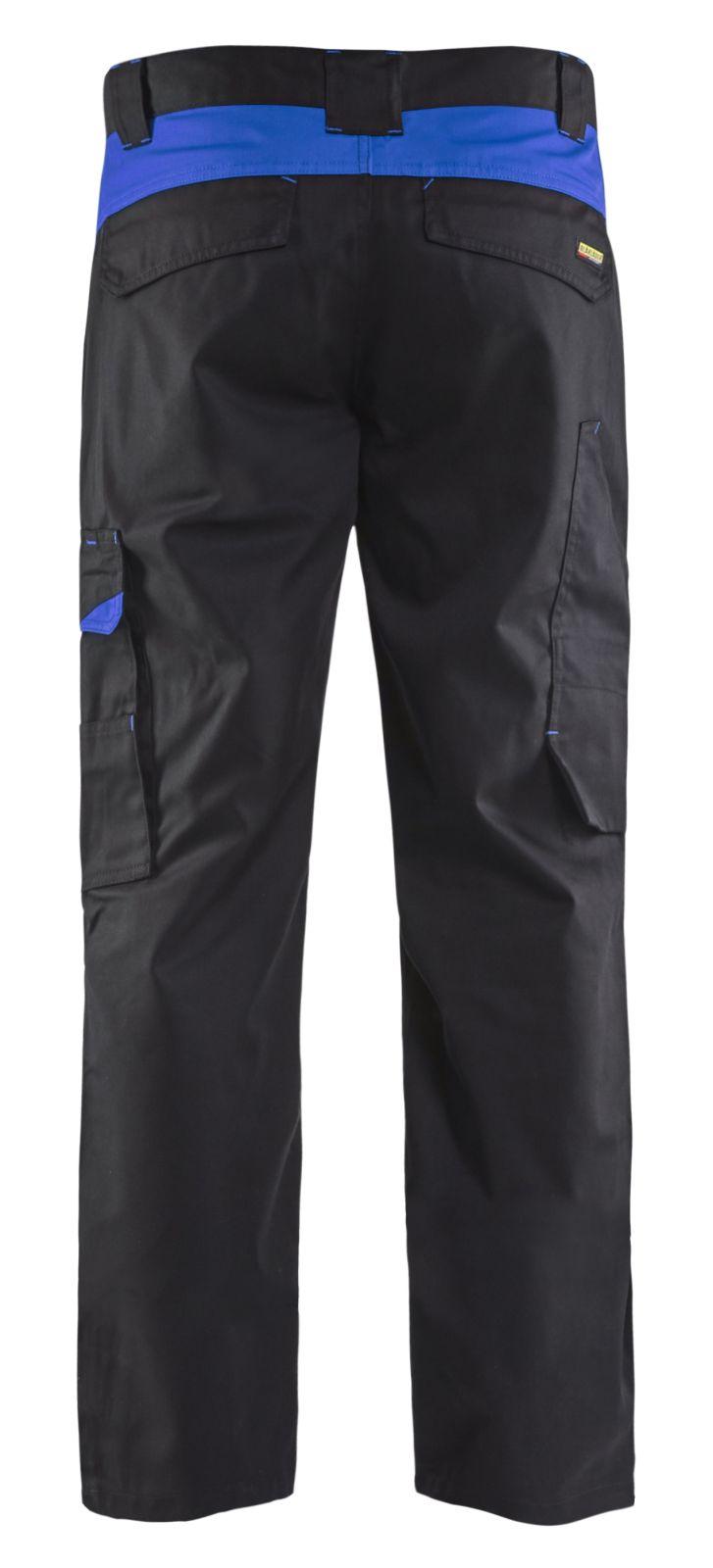 Blaklader Werkbroeken 14041800 zwart-korenblauw(9985)