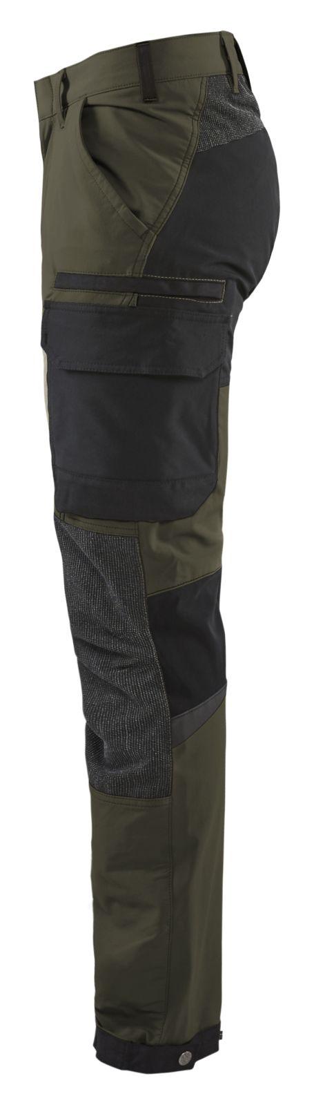 Blaklader Broeken 14221645 groen-zwart(4599)