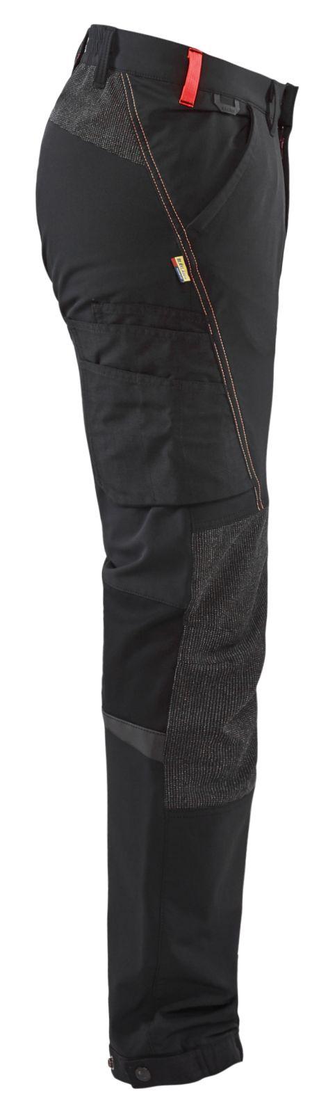 Blaklader Broeken 14221645 zwart-rood(9956)