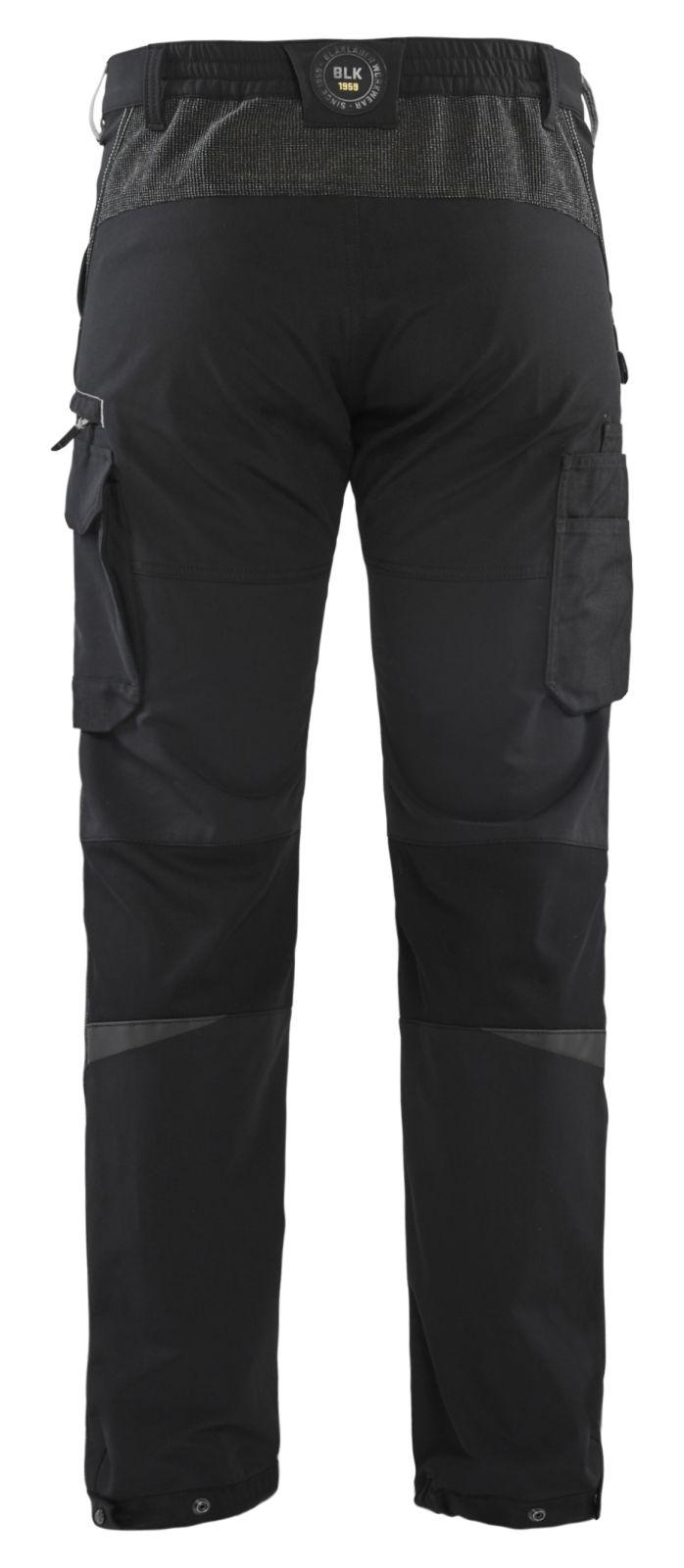 Blaklader Broeken 14221645 zwart-donkergrijs(9998)
