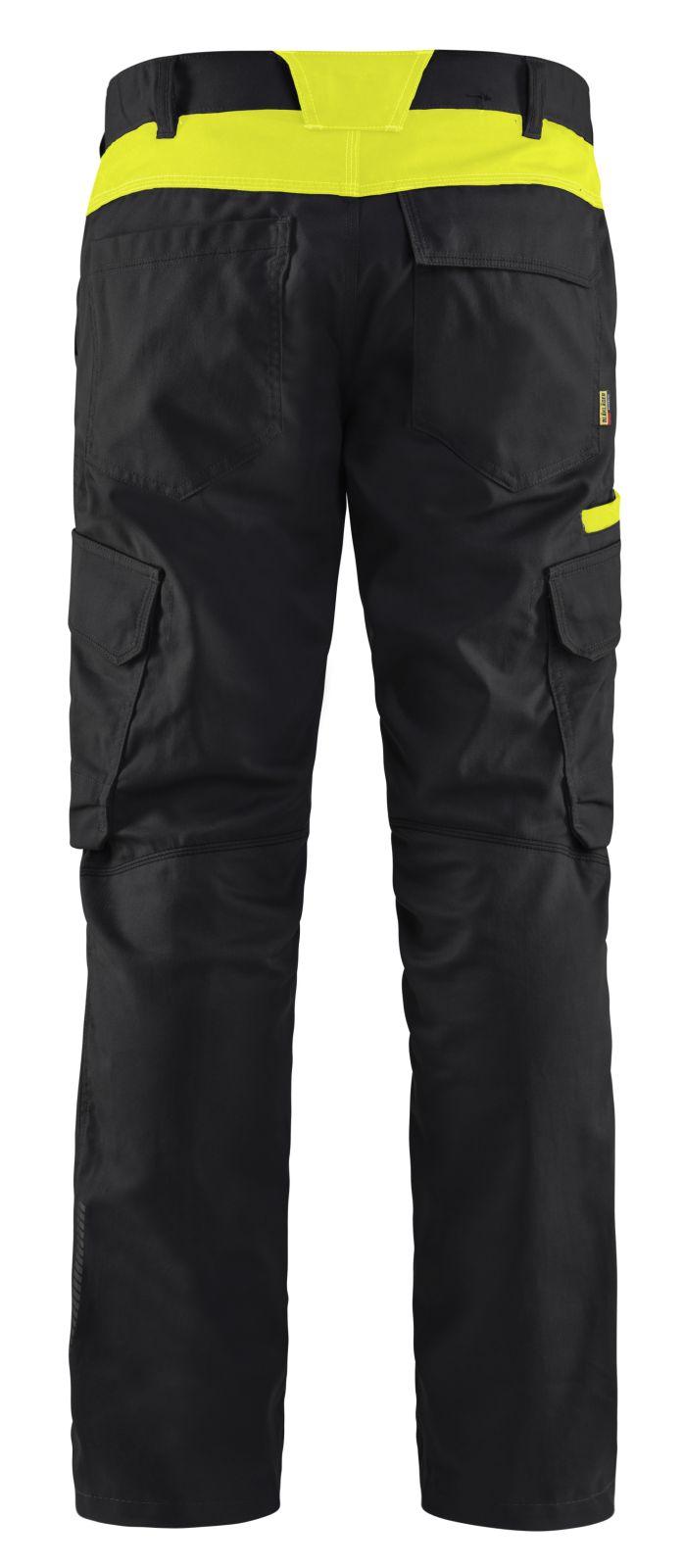 Blaklader Broeken 14441832 zwart-fluo geel(9933)