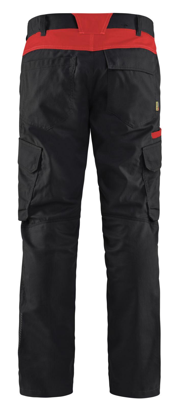 Blaklader Broeken 14441832 zwart-rood(9956)