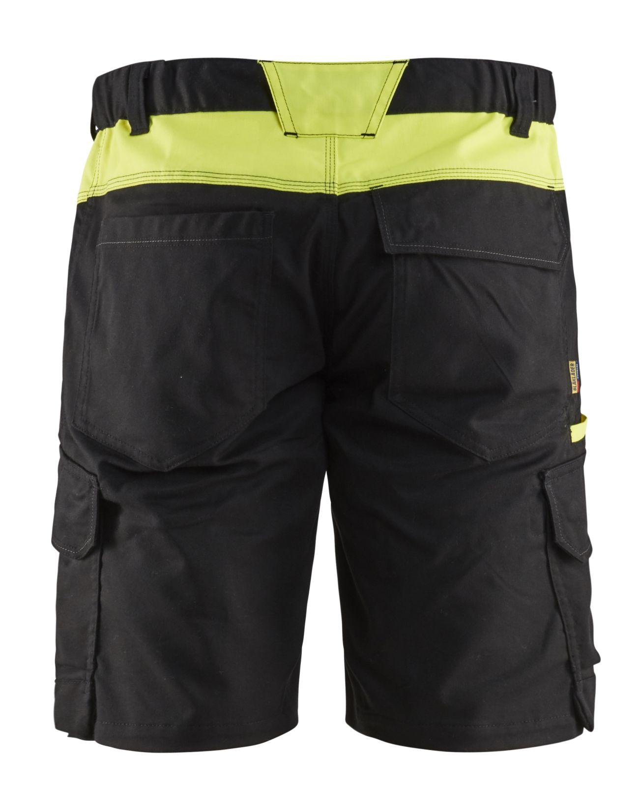 Blaklader Broeken 14461832 zwart-fluo geel(9933)