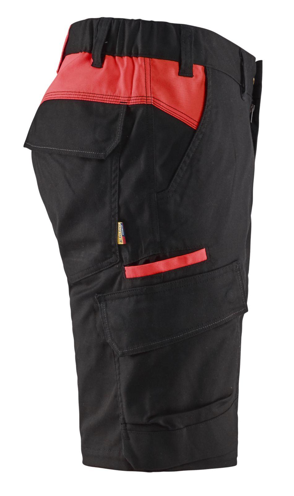 Blaklader Broeken 14461832 zwart-rood(9956)