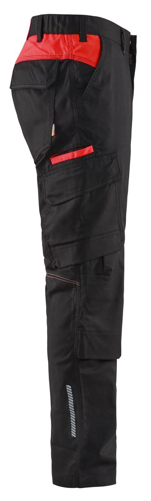 Blaklader Broeken 14481832 zwart-rood(9956)