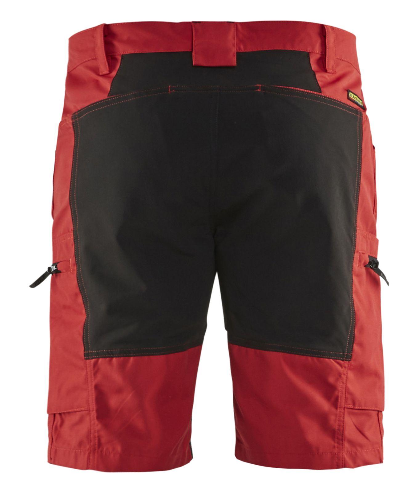 Blaklader Korte werkbroeken 14491845 met Stretch rood-zwart(5699)
