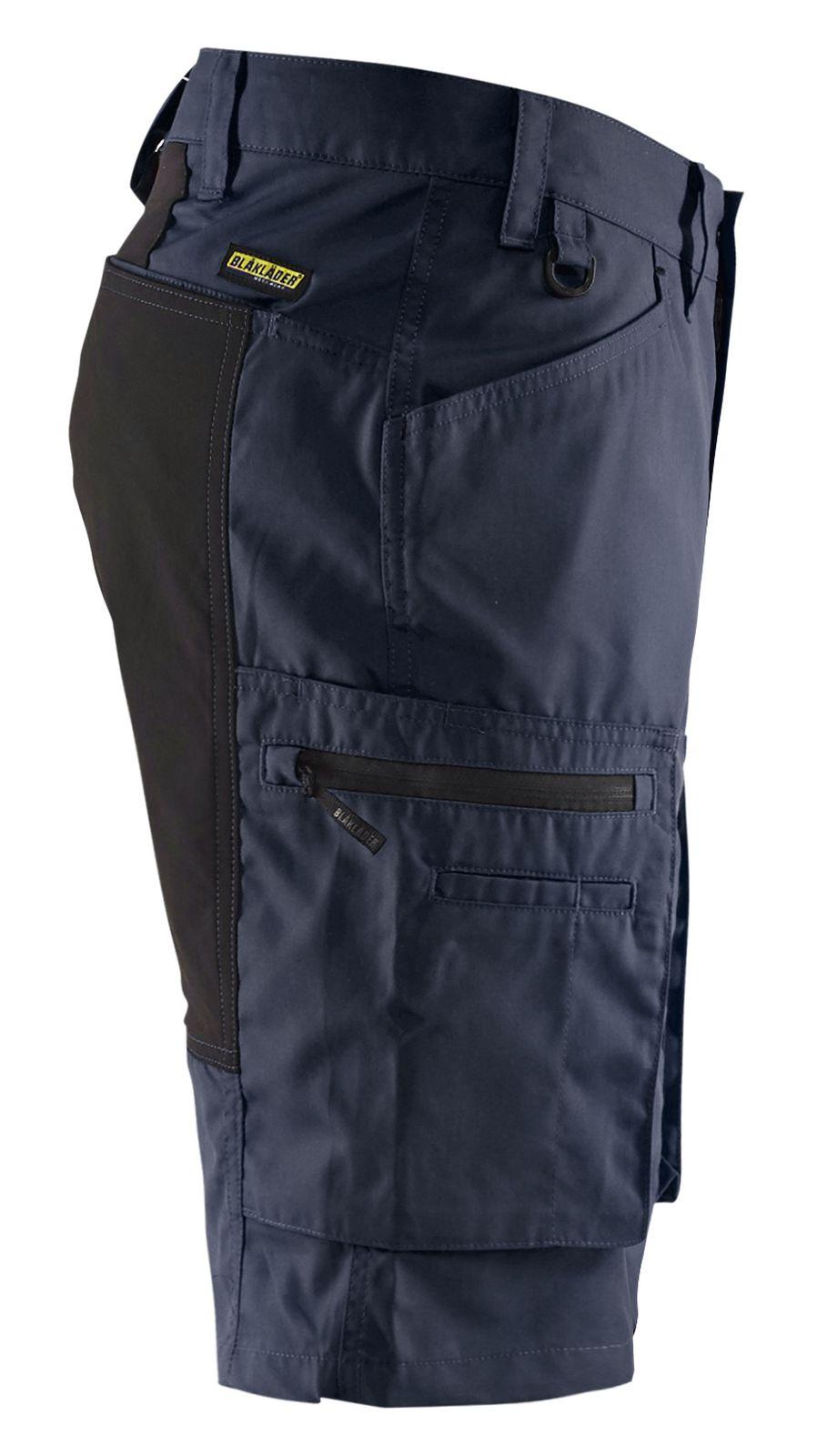 Blaklader Korte werkbroeken 14491845 met Stretch donker marineblauw-zwart(8699)