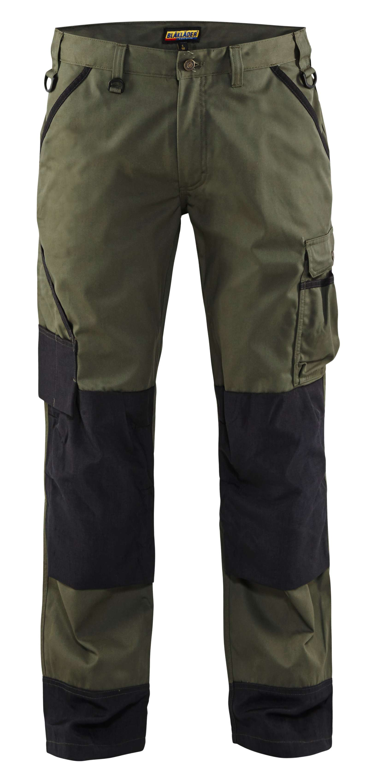 Blaklader Werkbroeken 14541835 army groen-zwart(4699)