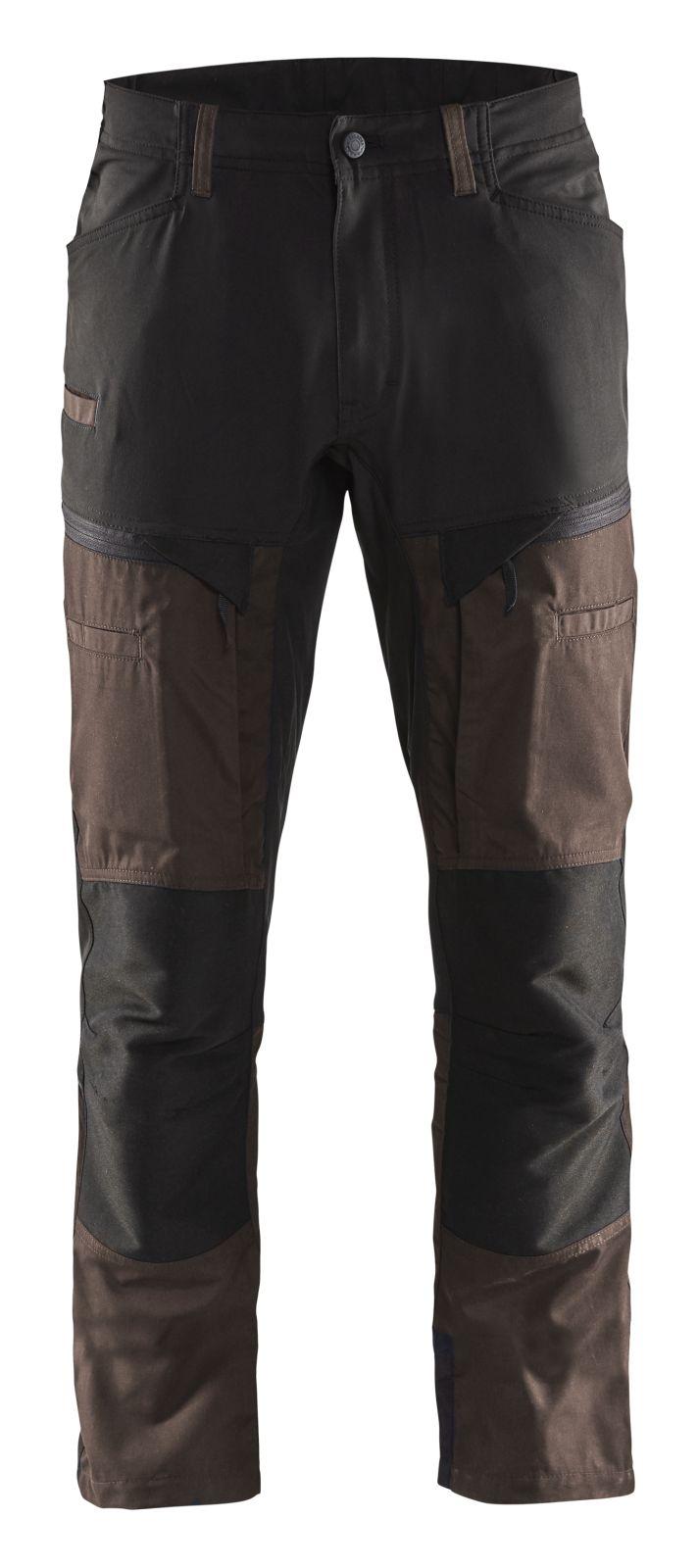 Blaklader Werkbroeken 14561845 met Stretch bruin-zwart(7899)