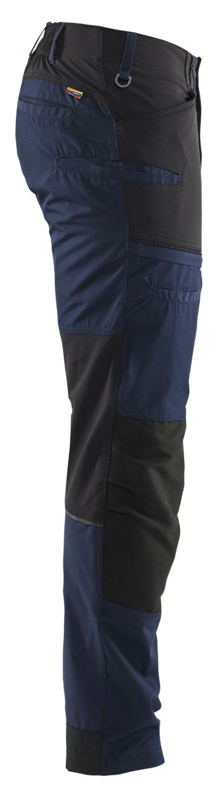 Blaklader Broeken 14561845 met Stretch donker marineblauw-zwart(8699)