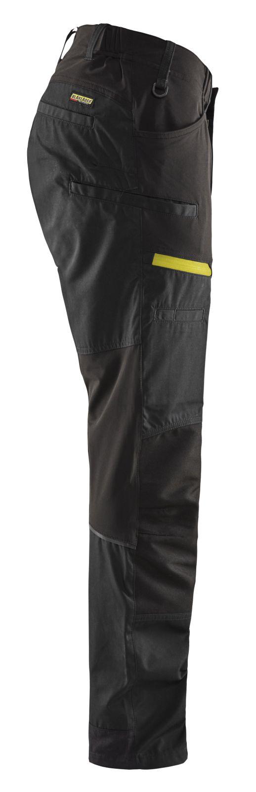 Blaklader Broeken 14561845 met Stretch zwart-fluo geel(9933)