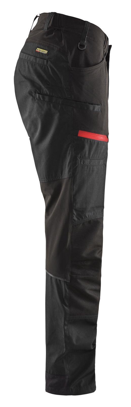 Blaklader Werkbroeken 14561845 met Stretch zwart-rood(9956)