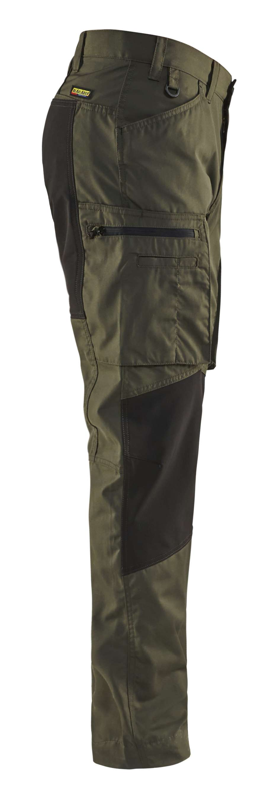 Blaklader Werkbroeken 14591845 met Stretch groen-zwart(4599)