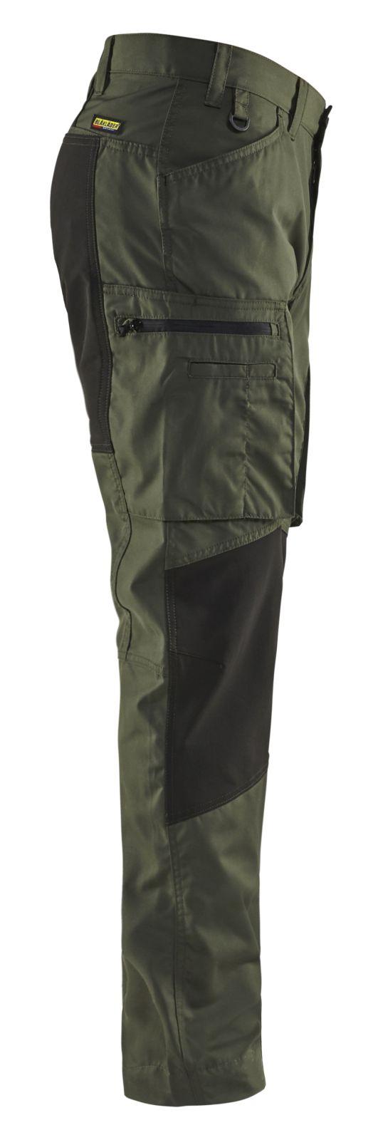 Blaklader Werkbroeken 14591845 met Stretch army groen-zwart(4699)