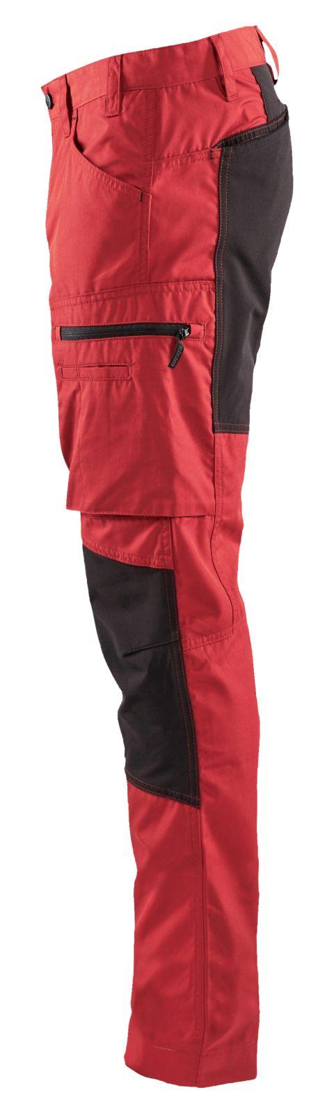 Blaklader Broeken 14591845 met Stretch rood-zwart(5699)
