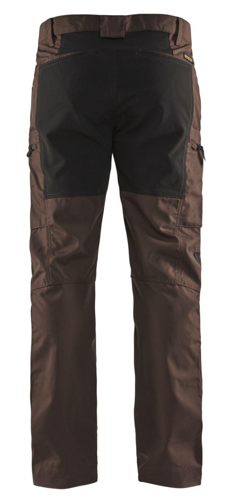 Blaklader Werkbroeken 14591845 met Stretch bruin-zwart(7899)