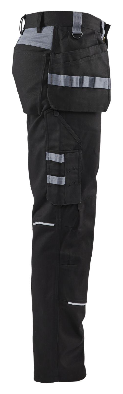 Blaklader Werkbroeken 14611516 Vlamvertragend zwart-grijs(9994)