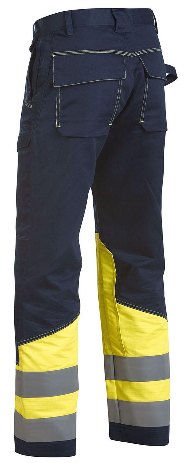 Blaklader Werkbroeken 14781506 Multinorm marineblauw-geel(8933)