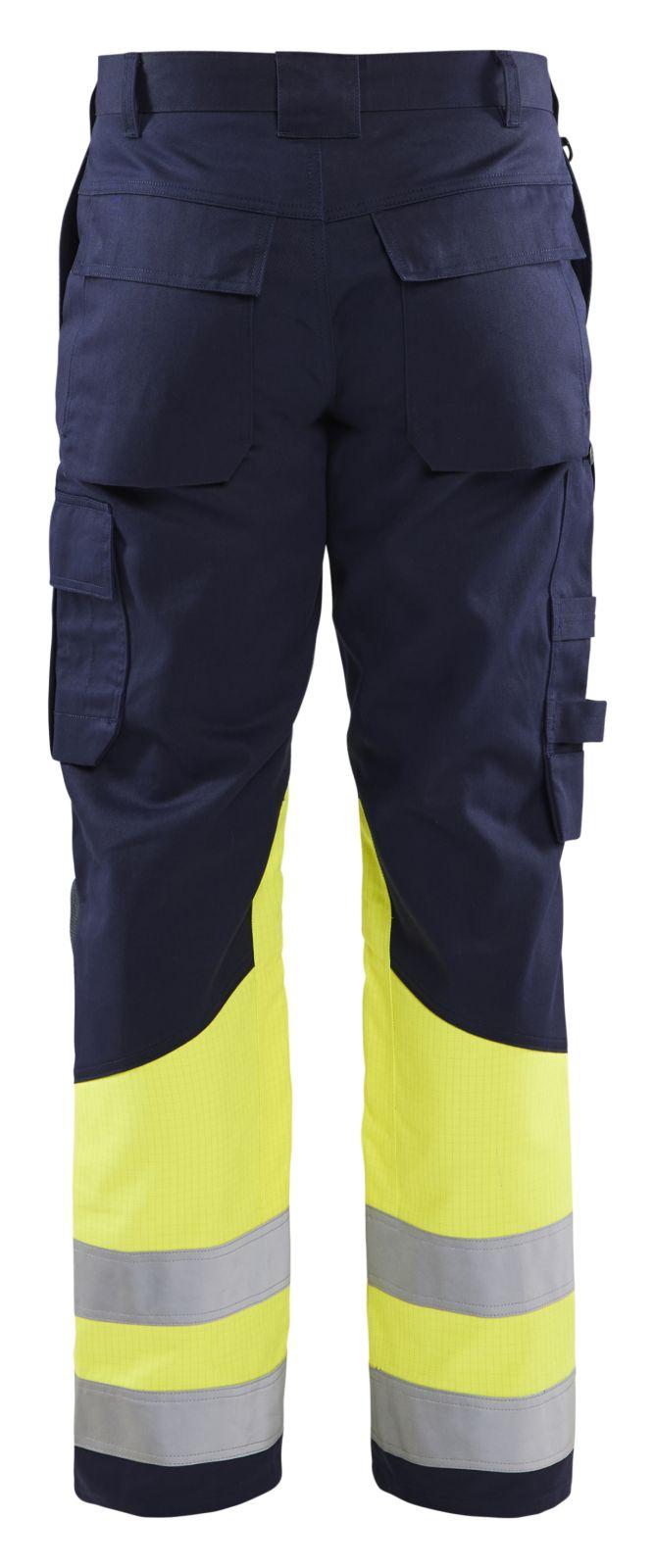 Blaklader Werkbroeken 14781514 Multinorm marineblauw-geel(8933)