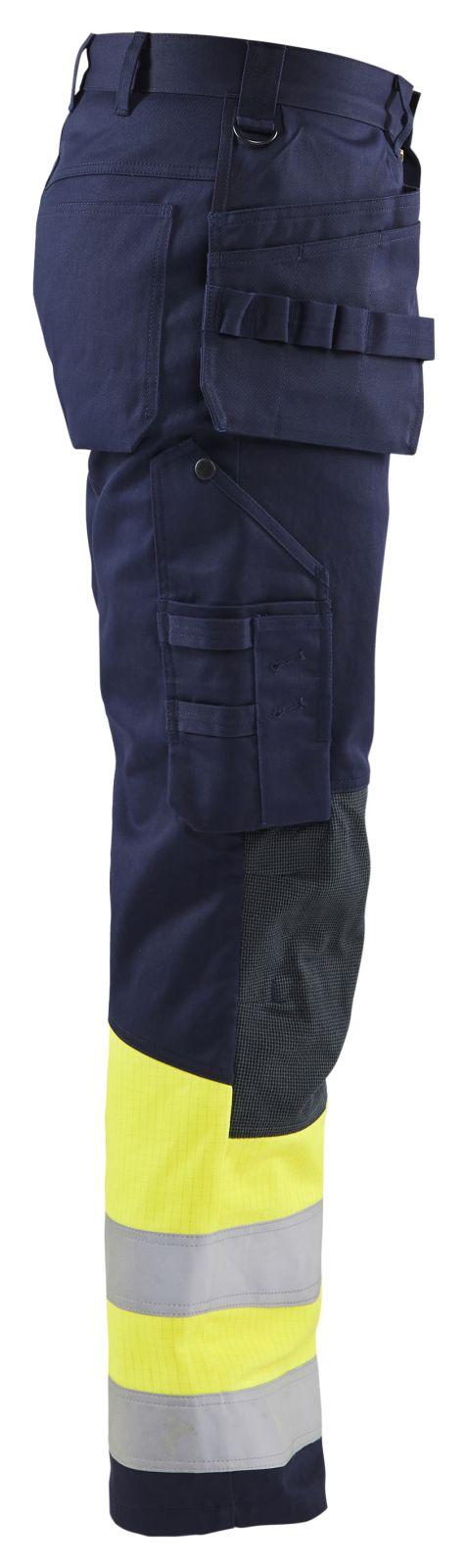 Blaklader Werkbroeken 14791514 Multinorm marineblauw-geel(8933)