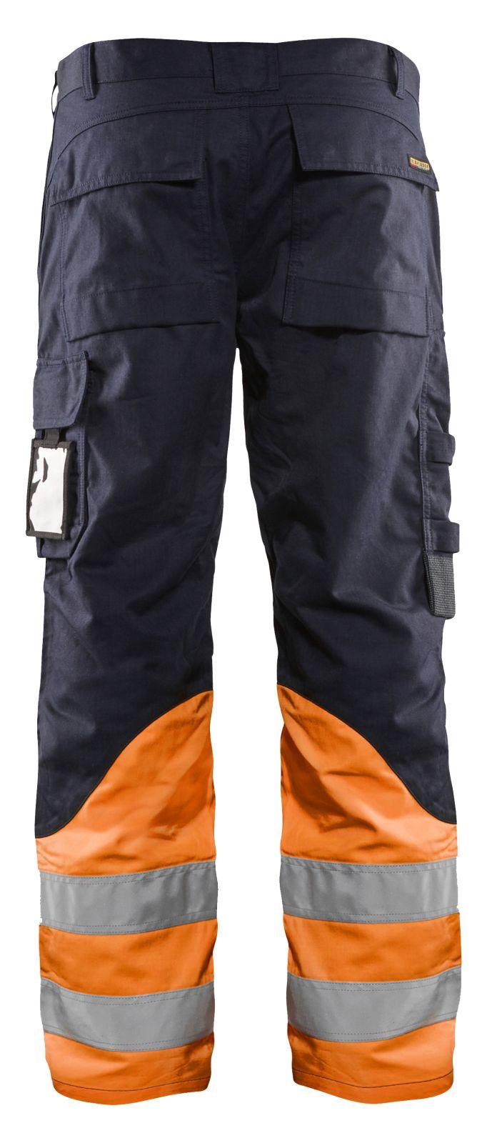 Blaklader Broeken 14881513 Multinorm marineblauw-oranje(8953)