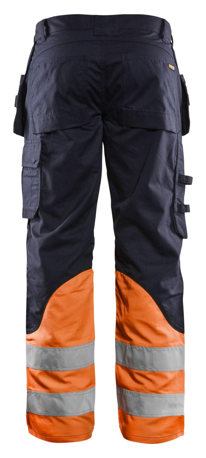 Blaklader Broeken 14891513 Multinorm marineblauw-oranje(8953)