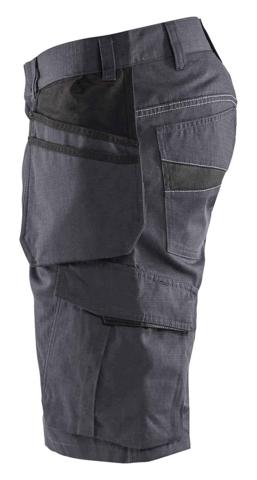 Blaklader Korte werkbroeken 14941330 midden grijs-zwart(9699)