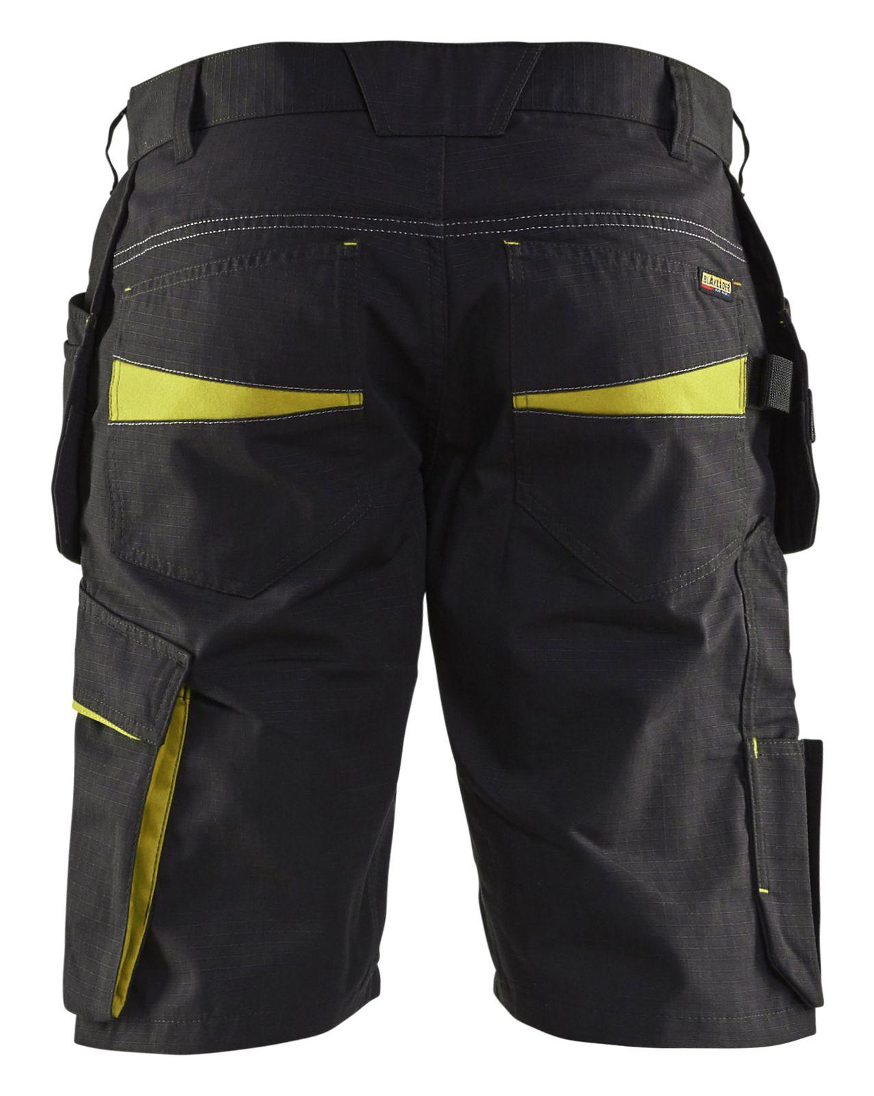 Blaklader Korte werkbroeken 14941330 zwart-geel(9933)