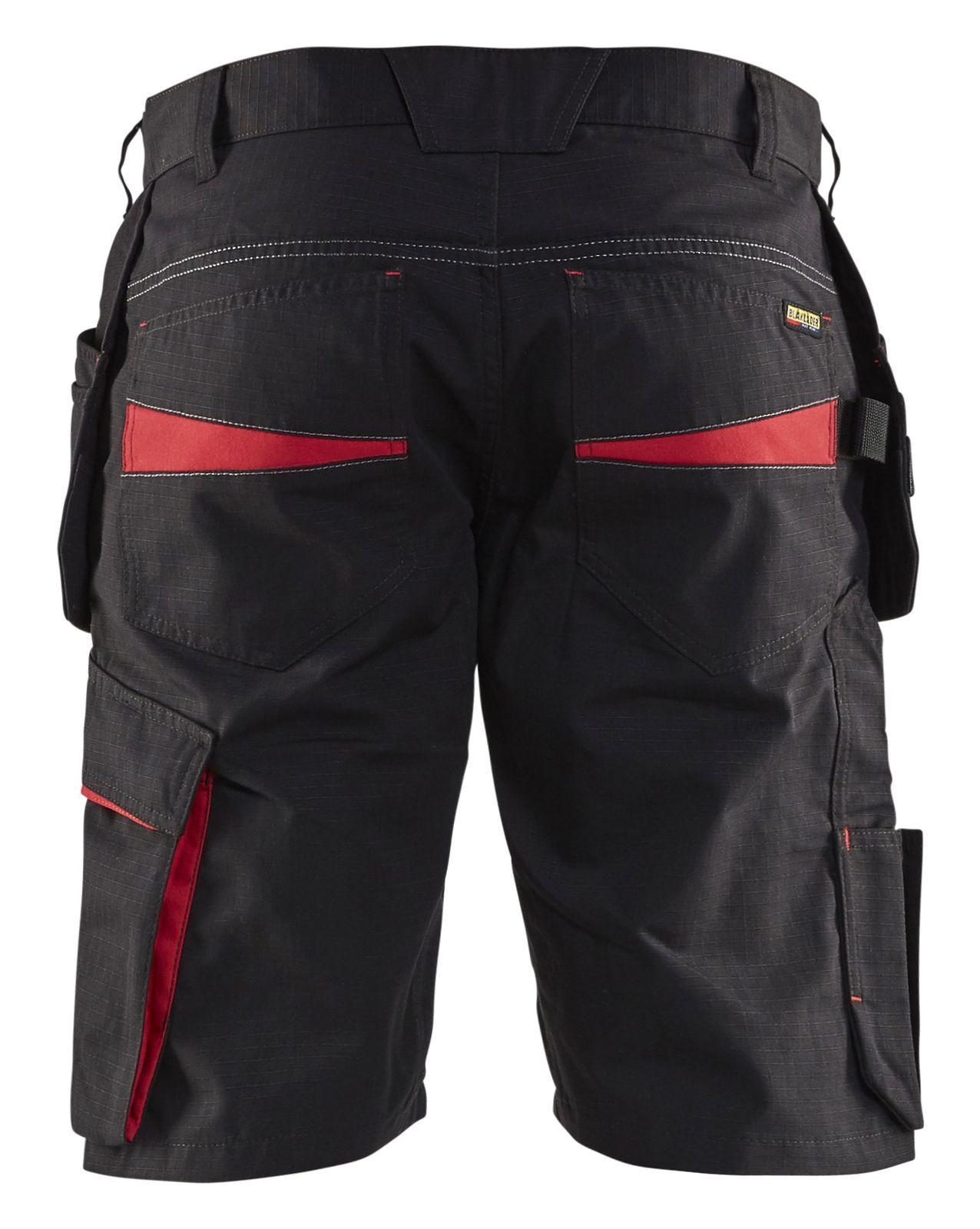 Blaklader Korte werkbroeken 14941330 zwart-rood(9956)