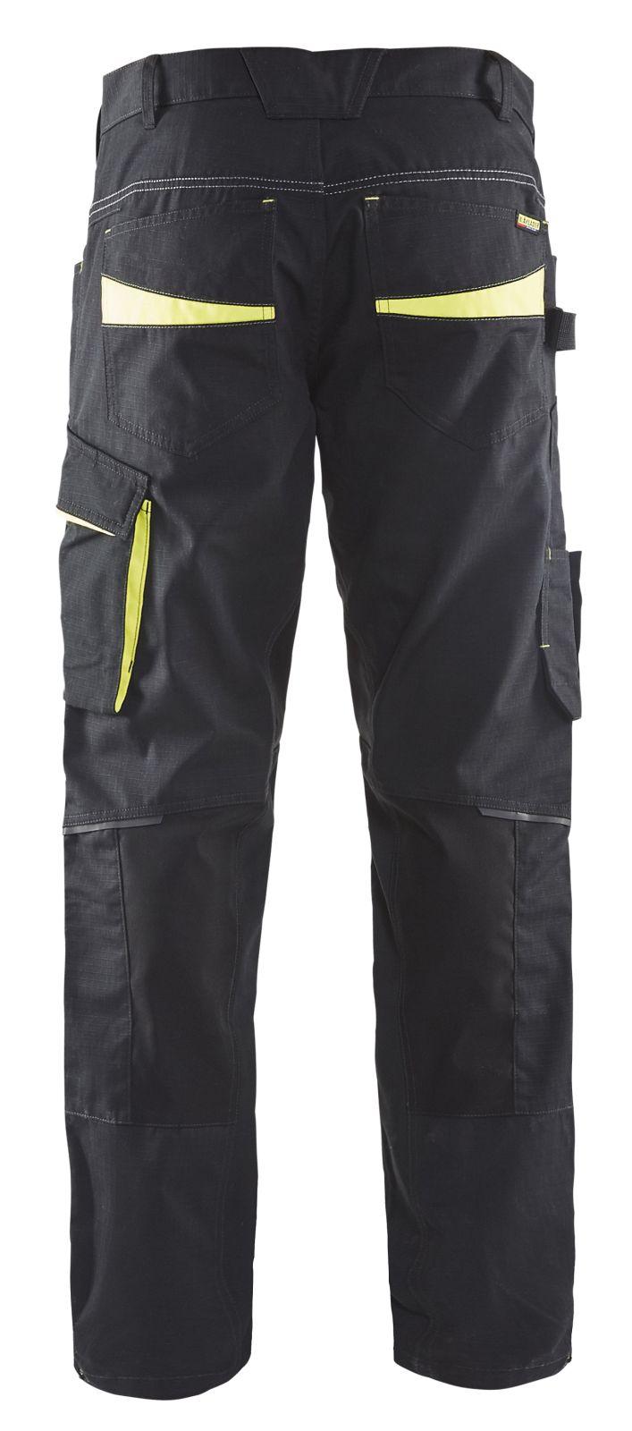 Blaklader Werkbroeken 14951330 met Stretch zwart-geel(9933)