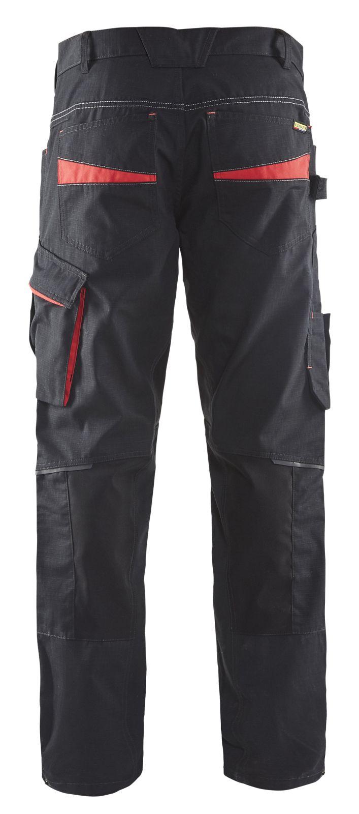 Blaklader Werkbroeken 14951330 zwart-rood(9956)