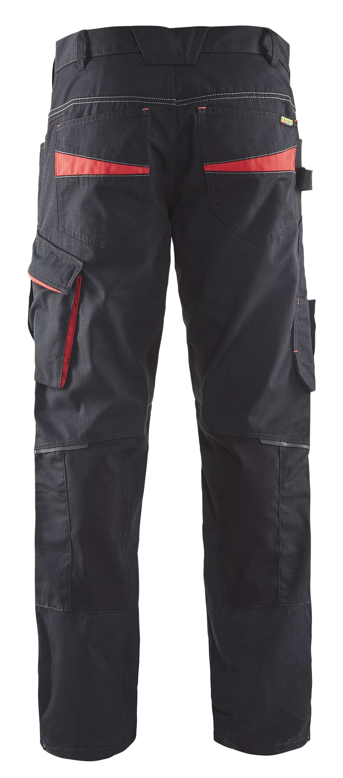 Blaklader Werkbroeken 14951330 met Stretch zwart-rood(9956)