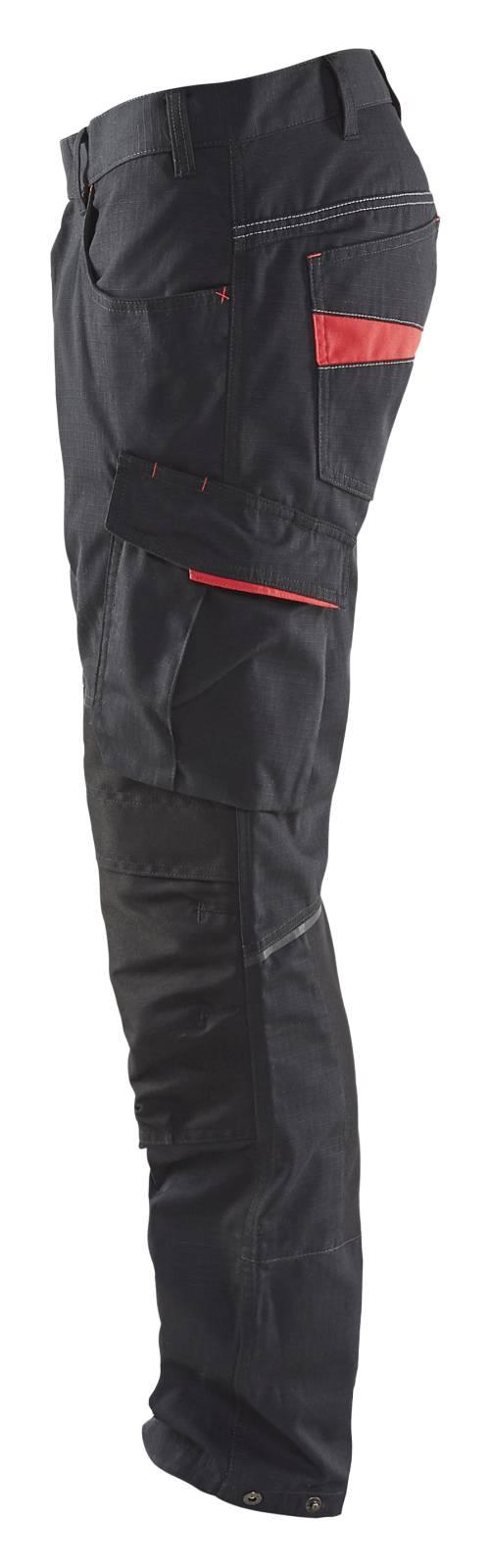 Blaklader Broeken 14951330 met Stretch zwart-rood(9956)