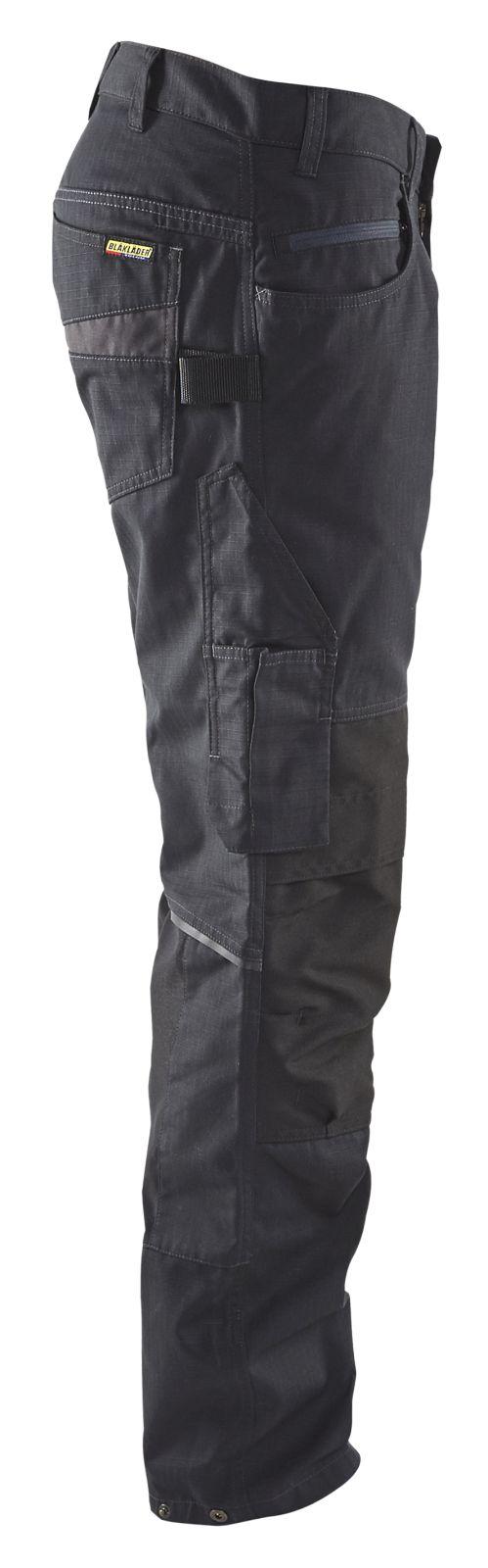 Blaklader Werkbroeken 14951330 met Stretch zwart-grijs(9998)