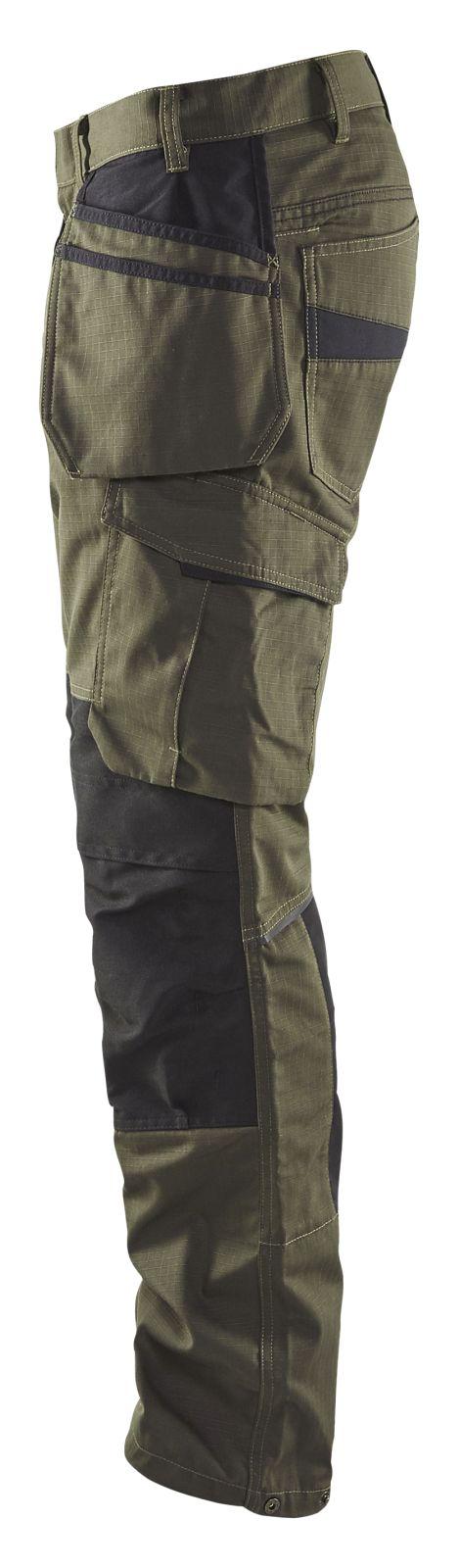 Blaklader Werkbroeken 14961330 met Stretch groen-zwart(4599)