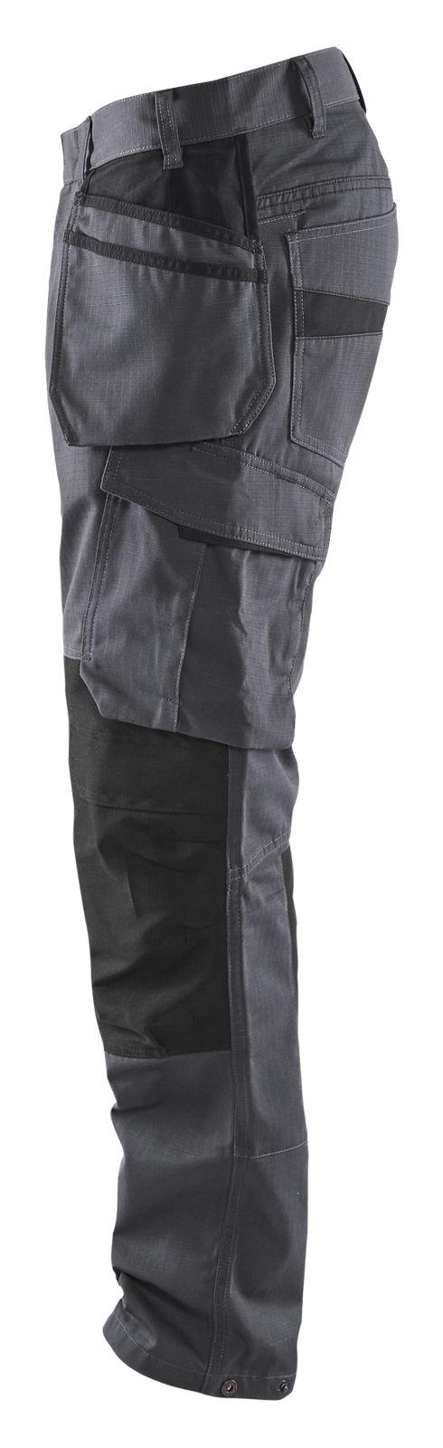 Blaklader Werkbroeken 14961330 met Stretch midden grijs-zwart(9699)