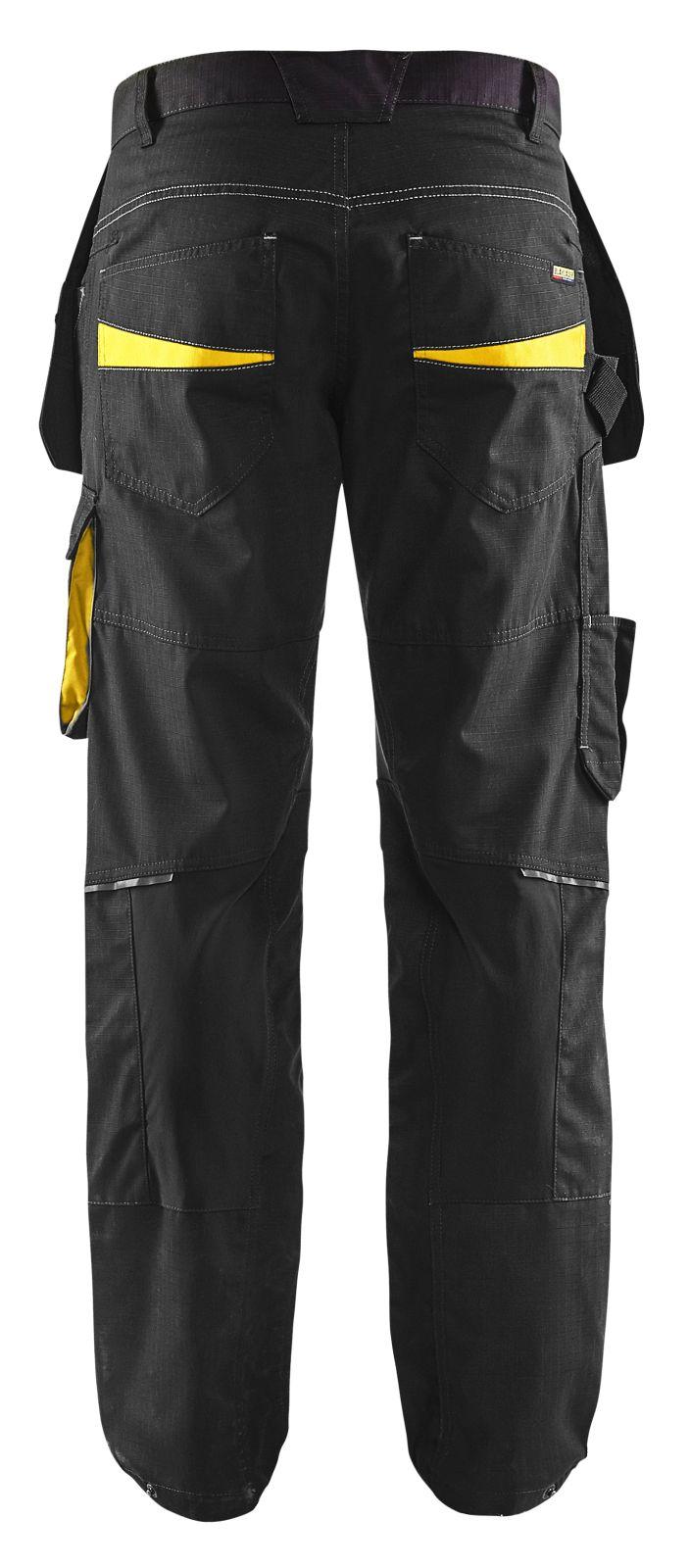 Blaklader Werkbroeken 14961330 zwart-geel(9933)