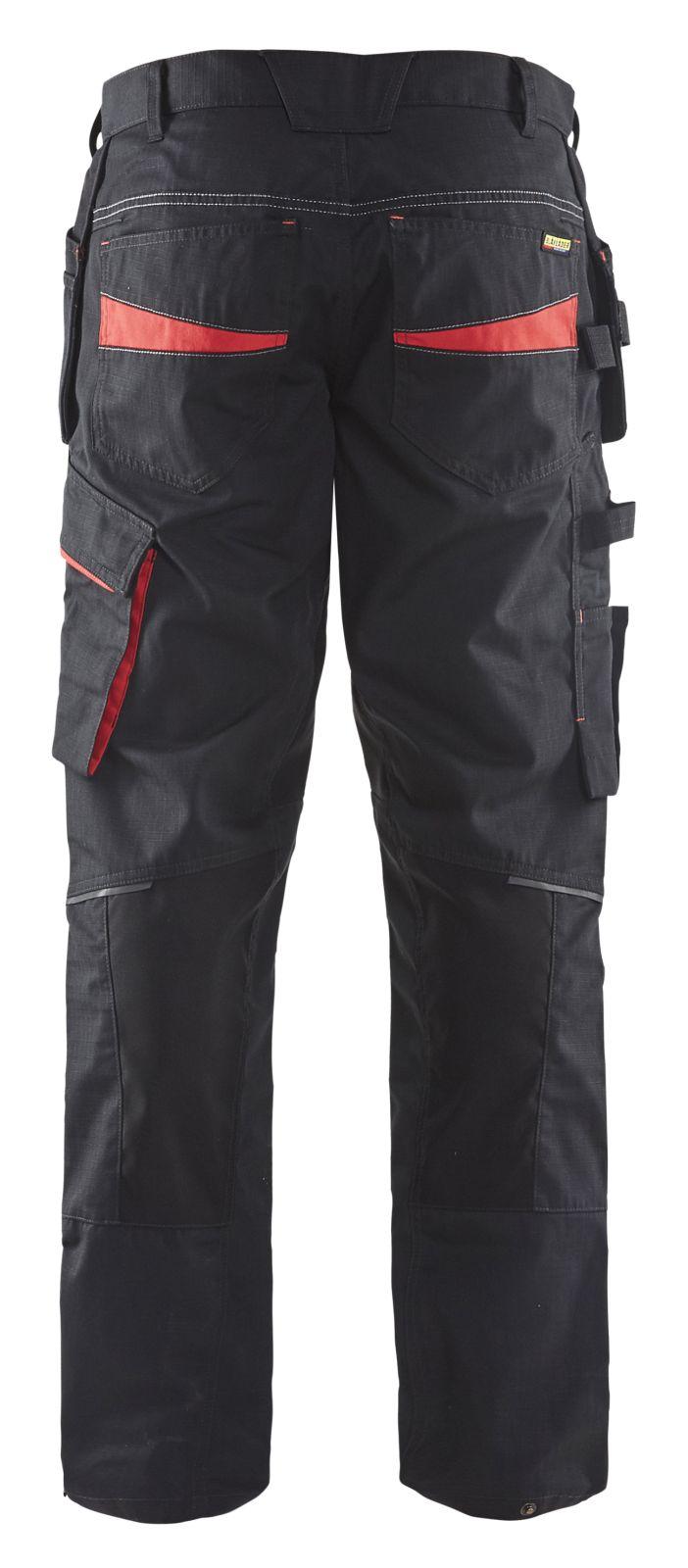 Blaklader Broeken 14961330 met Stretch zwart-rood(9956)