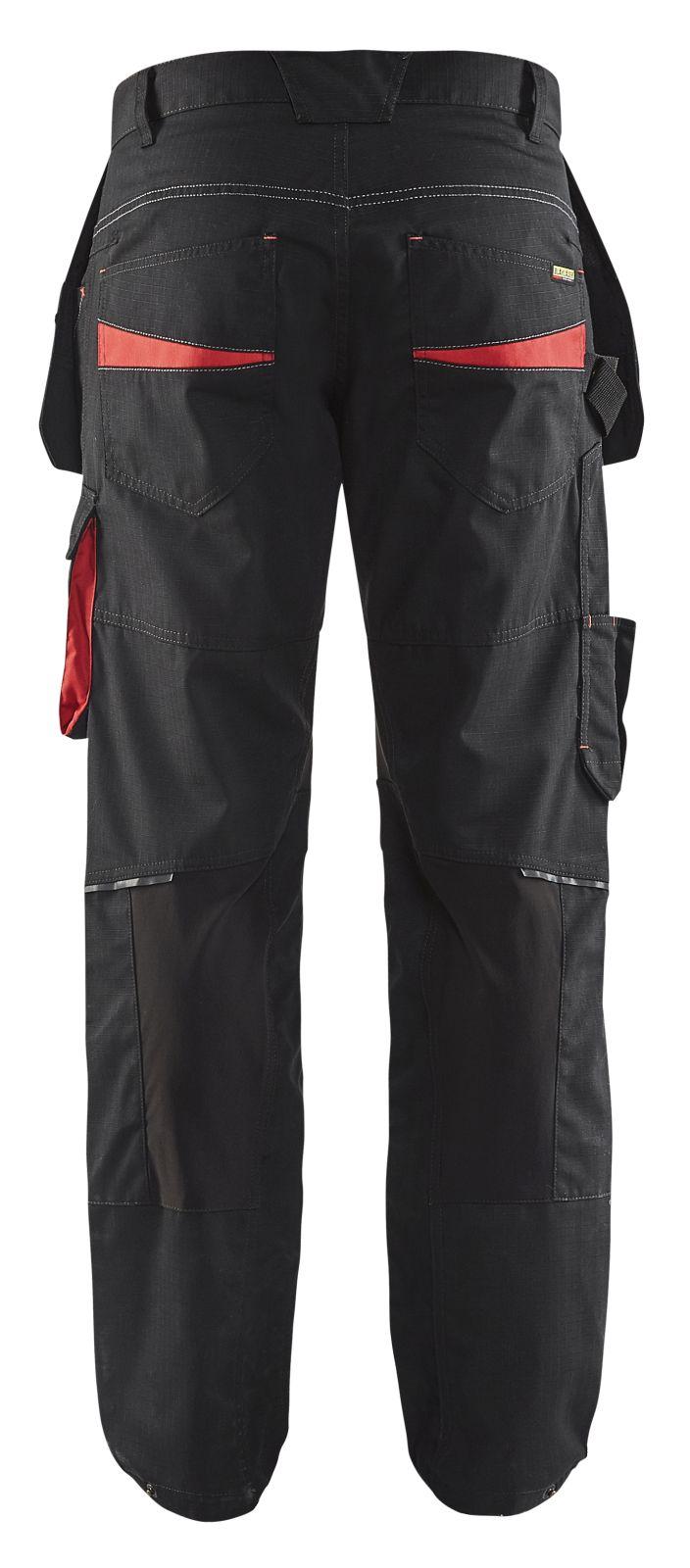 Blaklader Werkbroeken 14961330 met Stretch zwart-rood(9956)
