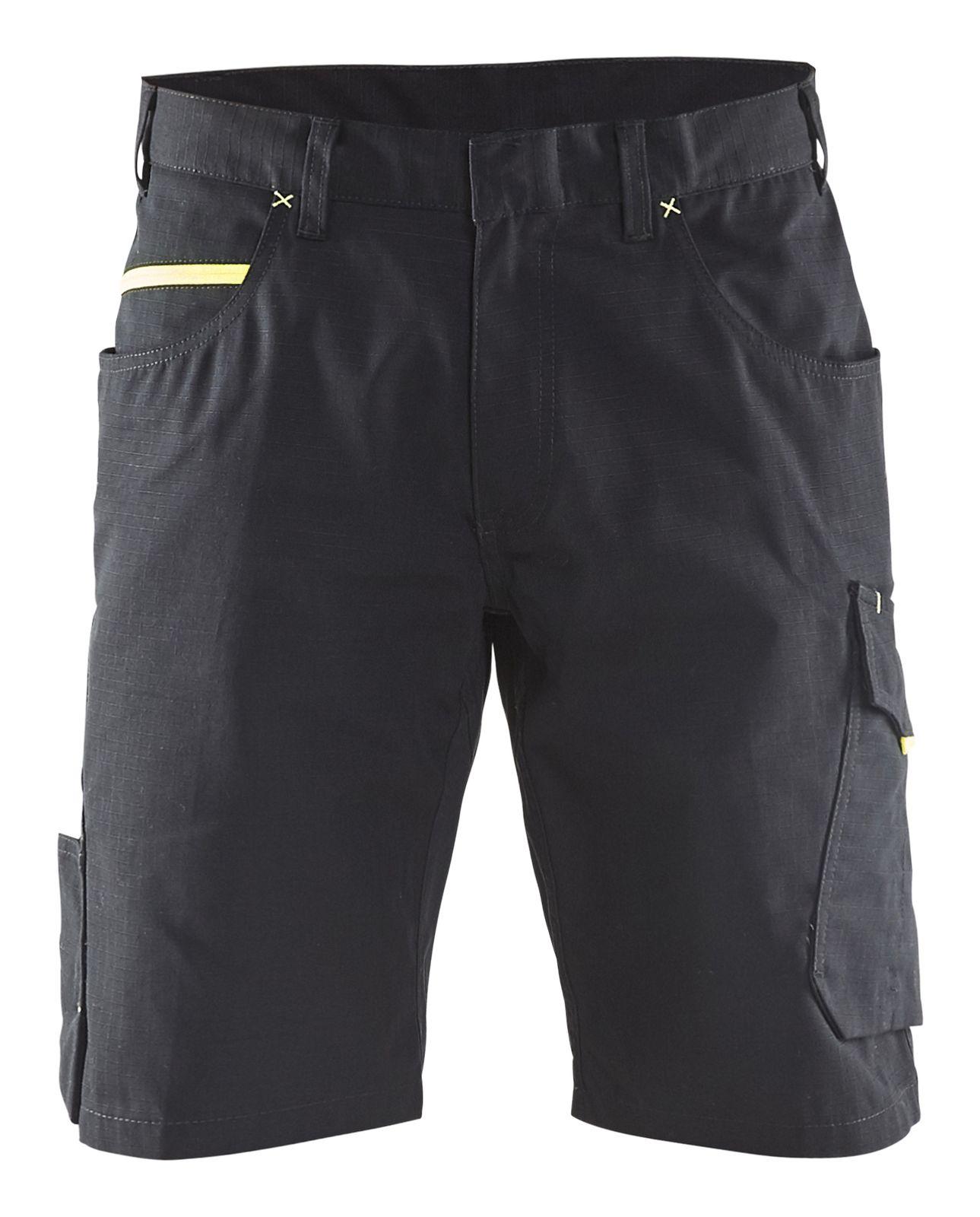 Blaklader Broeken 14991330 zwart-geel(9933)