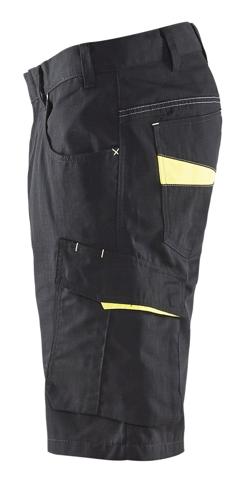 Blaklader Korte werkbroeken 14991330 zwart-geel(9933)