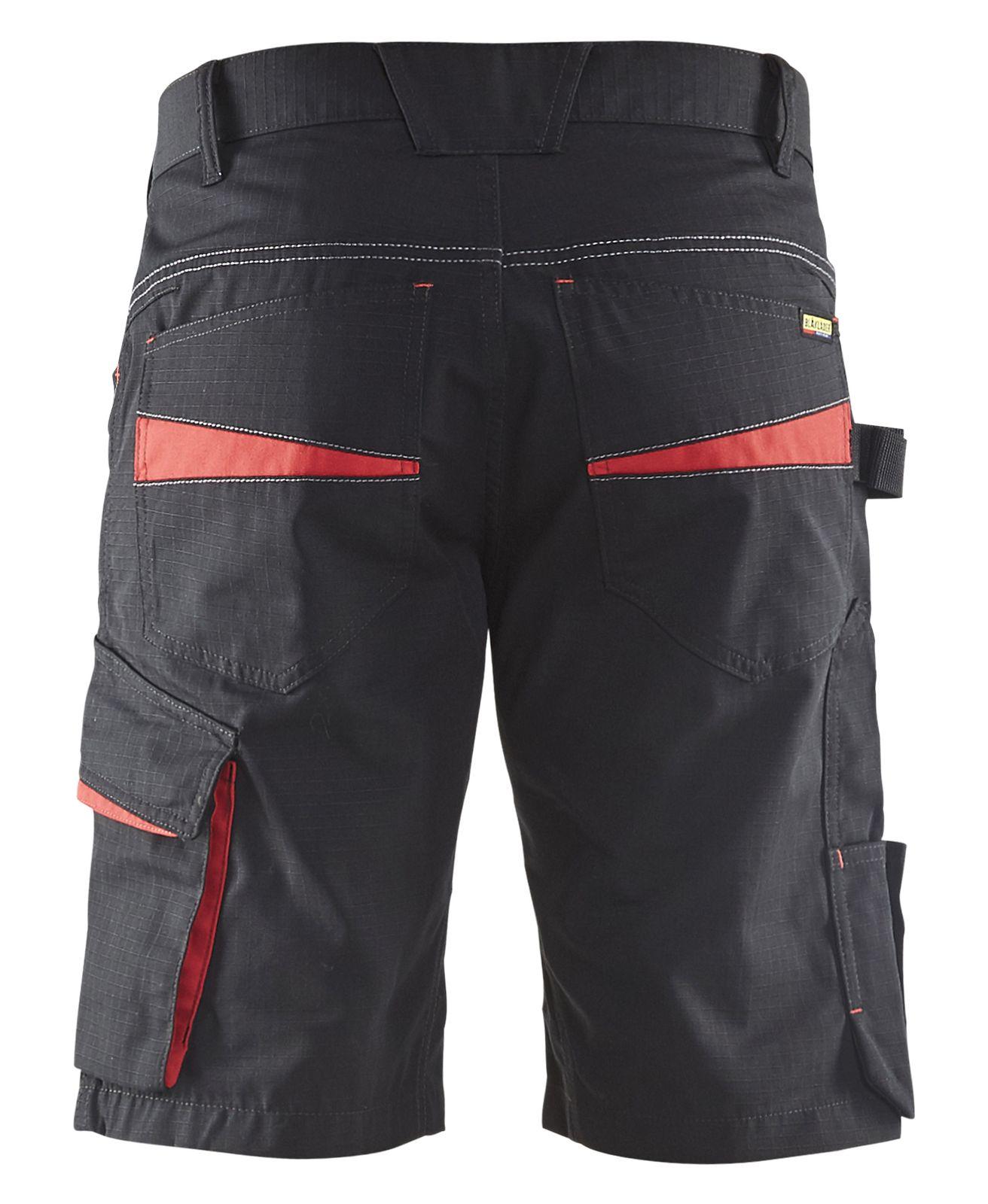 Blaklader Broeken 14991330 zwart-rood(9956)