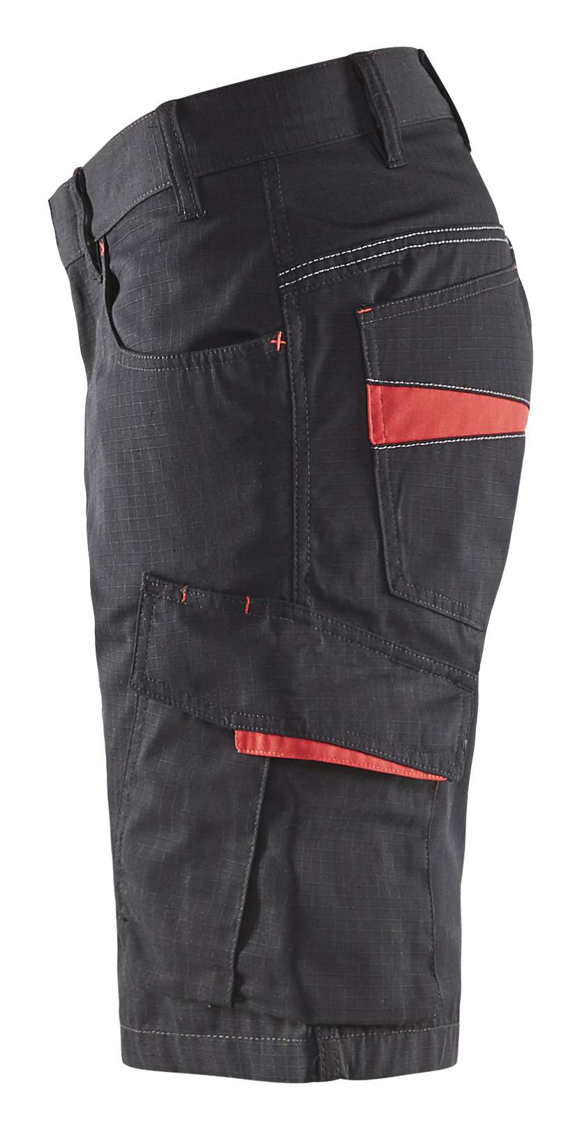 Blaklader Korte werkbroeken 14991330 zwart-rood(9956)