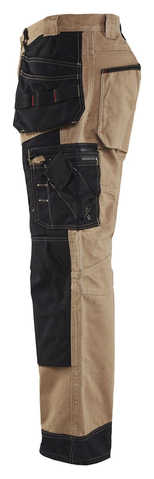 Blaklader Broeken 15001320 khaki-zwart(2899)