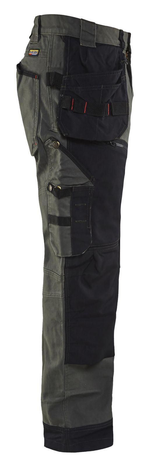 Blaklader Werkbroeken 15001320 army groen-zwart(4699)