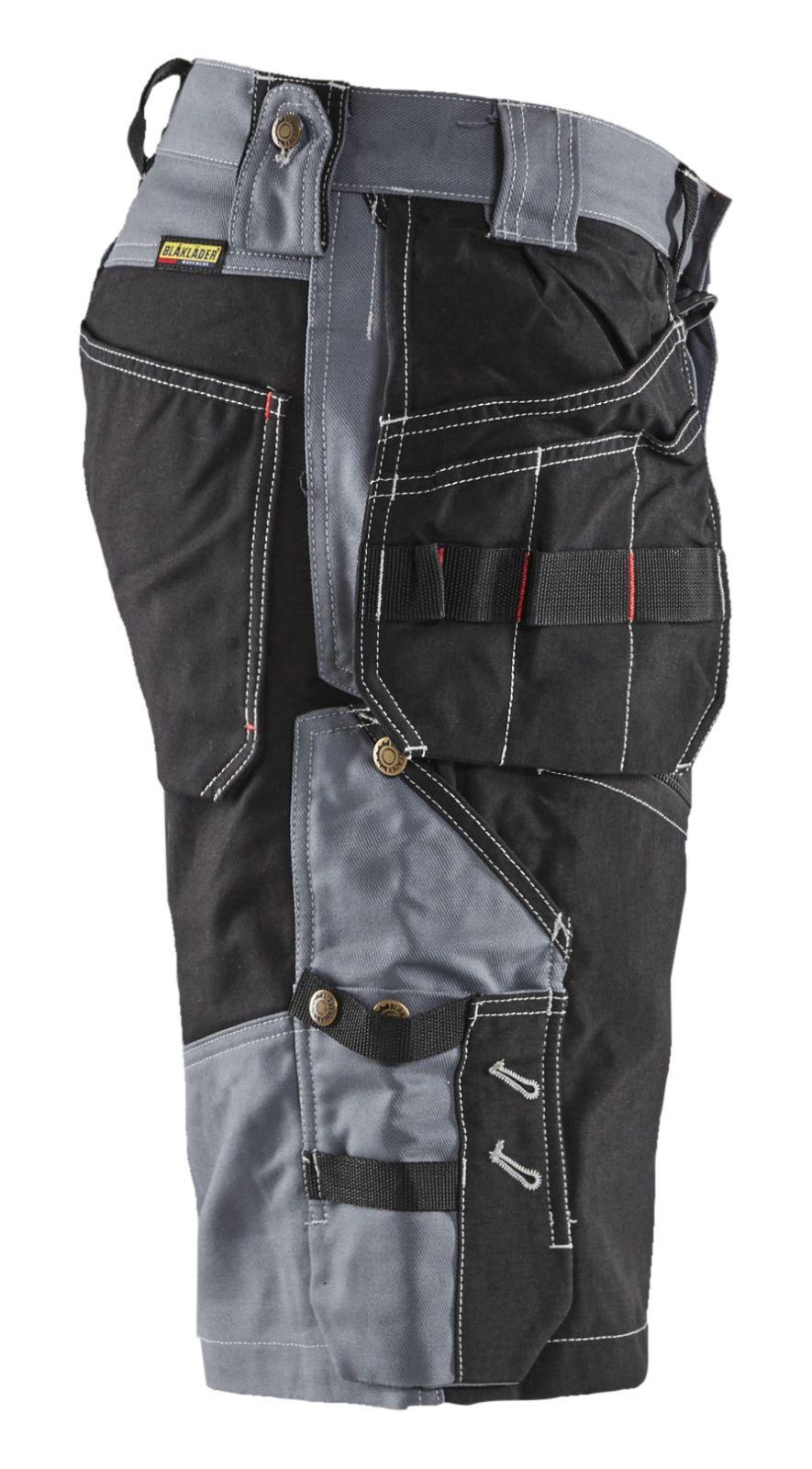 Blaklader Korte werkbroeken 15021370 grijs-zwart(9499)