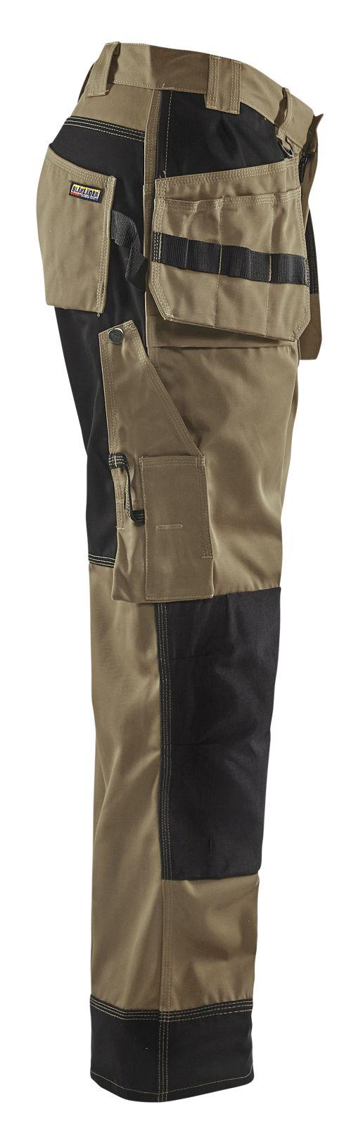 Blaklader Werkbroeken 15031860 khaki-zwart(2499)