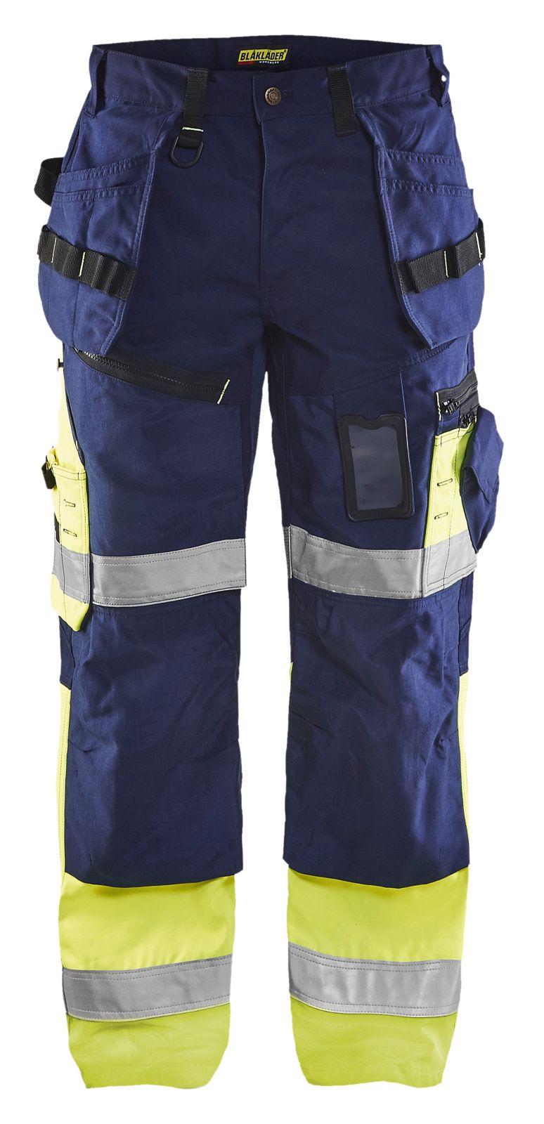 Blaklader Werkbroeken 15081860 High Vis marineblauw-geel(8933)
