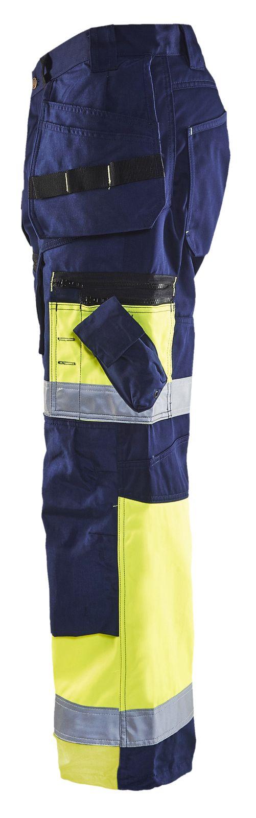 Blaklader Broeken 15081860 High Vis marineblauw-geel(8933)