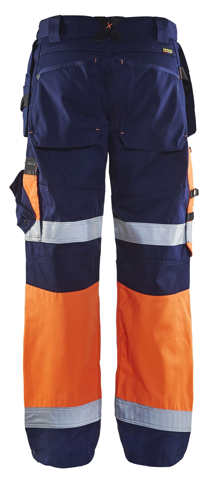 Blaklader Broeken 15081860 High Vis marineblauw-oranje(8953)